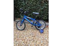 "Ridgeback 14"" bike with stabilisers"