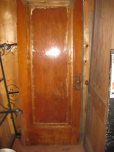 3 Solid Wood Doors with hardware - used - see ad for pricing