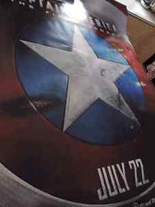 not CIVIL WAR captain america 1 BUS SHELTER near mint poster