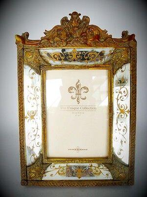 Goldspiegel Rahmen Jugendstil Vintage Deko Geschenk Spiegel Rahmen Bilderrahmen