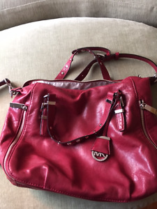 Michael Kors Red Leather Shoulder Bag. Very Good Condition.