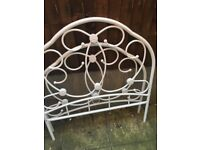 Single bed and head board - almost new