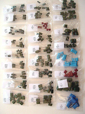 Radial Film Capacitor Assortment 270 Piece Kit New Lot
