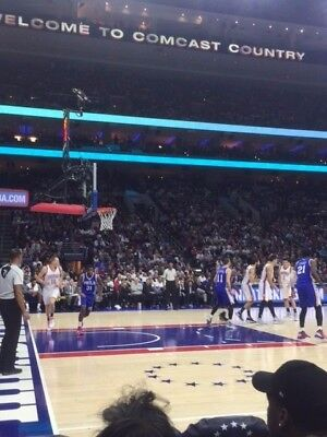 2 76ers vs Bulls Row 1 AMAZING LOWER LEVEL Tickets WED 4/10 AISLE EARLY ACCESS