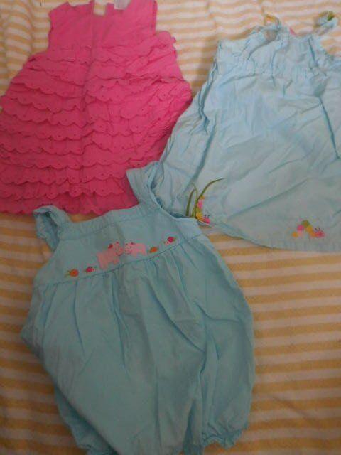 Euc Lot 3 Gymboree Dresses Bubble Romper Baby Girl 12 M 18 M Free Ship Usa