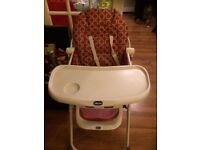 Chicco fold away highchair – hardly used looks brand new