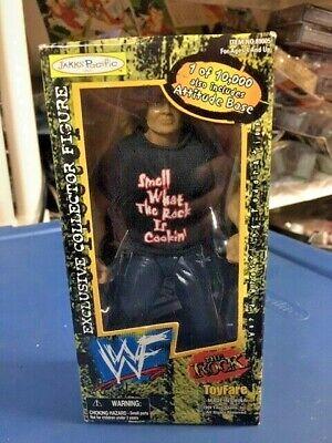 THE ROCK Jakks WWE TOYFARE MAIL AWAY Wrestling Figure MOC Exclusive WWF BCA