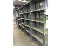 job lot 10 bays DEXION impex industrial shelving 2.4 meters high ( pallet racking , storage),