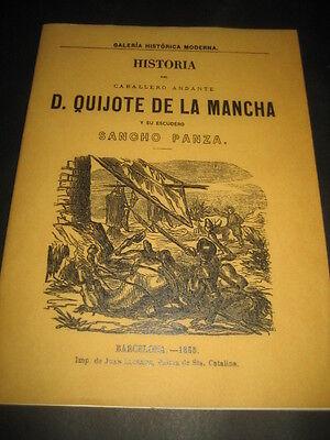 HISTORIA DEL CABALLERO ANDANTE DON QUIJOTE DE LA MANCHA Y SU ESCUDERO SANCHO PA segunda mano  España