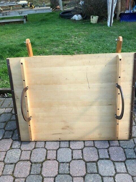 Vintage Drafting Table Anco Bilt Oak & Cast Iron