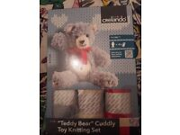 Teddy Bear cuddly Toy knitting set brand new