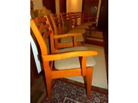 Vintage Danish Style Set of Six Dining Chairs 70's / 80's