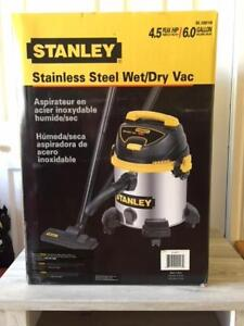STANLEY 6 GALLON STAINLESS STEEL WET/DRY VAC