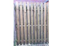 12 fence slats (new - treated)