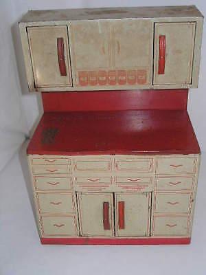 Vintage Metal Wolverine Hoosier Cabinet Cupboard 1950s Kitchen Cabinets Retro