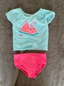 Carter's baby girl 2-piece swim suit 24m
