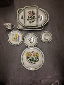 Set of 34 items - Portmierion Floral China - used - good condition
