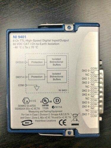 NI 9401, 8-CH TTL High-Speed Digital Input/Output Module