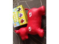 Cow Animal Space Hopper Sit & Ride Inflatable play soft pvc toy