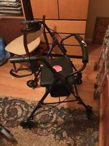 walkers, clamp on tub railing, shower chair