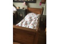 antique pine vintage french single sleigh bed with mattress