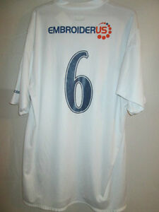 Preston-North-End-2005-2006-Match-Worn-Reserve-diadora-6-Football-Shirt-9416