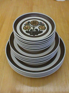 Langley Denby Mayflower Patter Stoneware plates