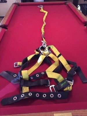 Miller Full Body Safety Harness With Lanyard 6 Ft 219wrs6fty Capacity 310 Lbs