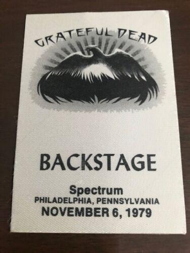 Grateful Dead - November 6, 1979- Philadelphia Spectrum satin backstage pass