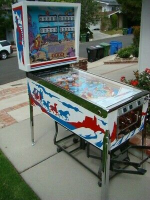 Ground Up Restored Vintage Gottlieb Fast Draw Pinball Machine