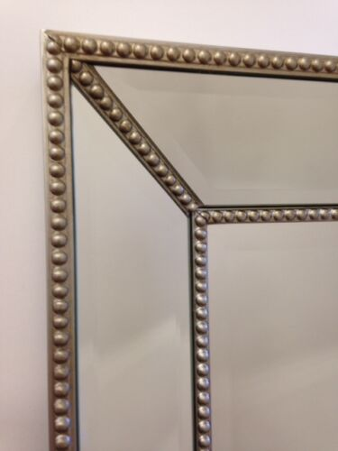 mirror home deco silver beaded classic bevelled mirror