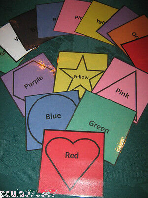 Early Years Learning / Educational Toys, Colours & Shapes x 54 cards Pre-School