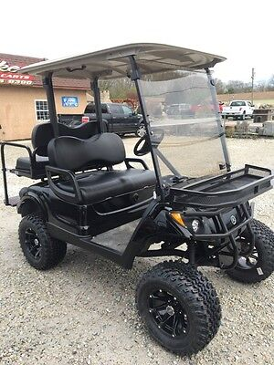 2012 yamaha 48v electric golf cart custom black 6 39 39 lift for Yamaha golf cart id