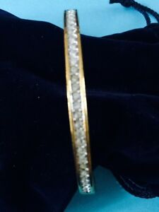 bracelet gold coloured with Swarovski crystals London Ontario image 1
