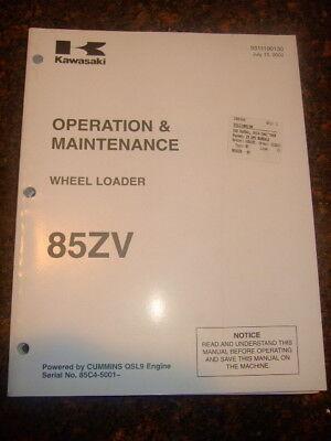 Kawasaki 85zv Wheel Loader Operation Maintenance Manual