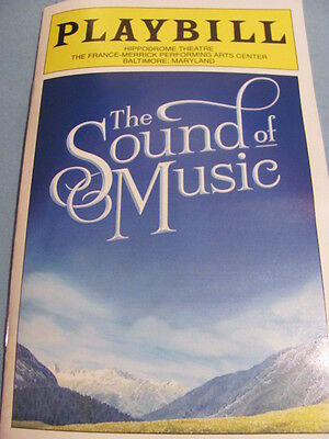 THE SOUND OF MUSIC Playbill TOUR Musical 2015 REVIVAL NEW YORK BROADWAY