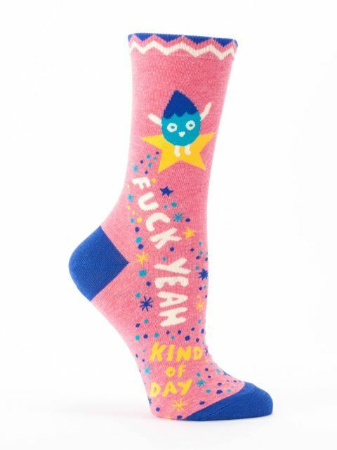 "Blue Q ""F##k Yeah Kind of Day"" socks novelty women's crew fu"