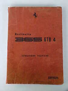 Ferrari-365-Workshop-Manual-Berlinetta-Istuzioni-Tecniche-GTB-4-Daytona-Book-OEM