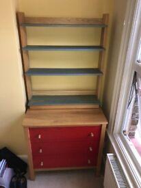 Tutti Fruitti Ash Multicoloured Drawers & Bookcase