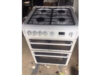 HOTPOINT DOUBLE OVEN GAS COOKER