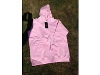 "Unused woman's / lady's fleece, with hood, pink, by ""My Fashion World"" size 2XL"