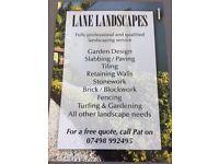 Lane Landscapes - Competitive prices, highest standards!