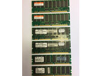 3 used sets of two memory boards. Samsung 512mb, Infineon 255mb, Hynix 512mb
