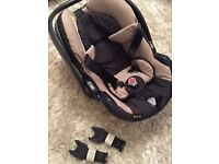 BeSafe iZi Go+ Infant seat Beige with Bugaboo adapters