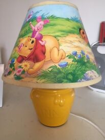 Winnie the Pooh lamp and shade