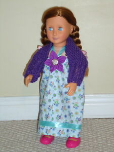 "Doll Dress & Shrug Set - for American Girl or other 18"" dolls"
