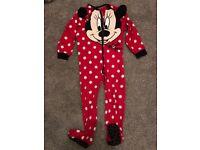 Disney Minnie Mouse All-in-One, Onesie, Onsie Age 4-5 pyjamas