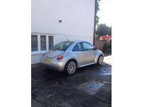 VW Beetle 2.0 L injection 2001 X reg Metallic silver Audi Alloys CD changer