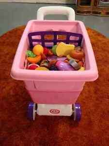 LITTLE TYKES SHOPPING CART WITH FOOD