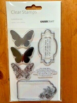 Kaisercraft Kaleidoscope Clear Stamp Set - 155mm x 105mm, 7 stamps, CS168